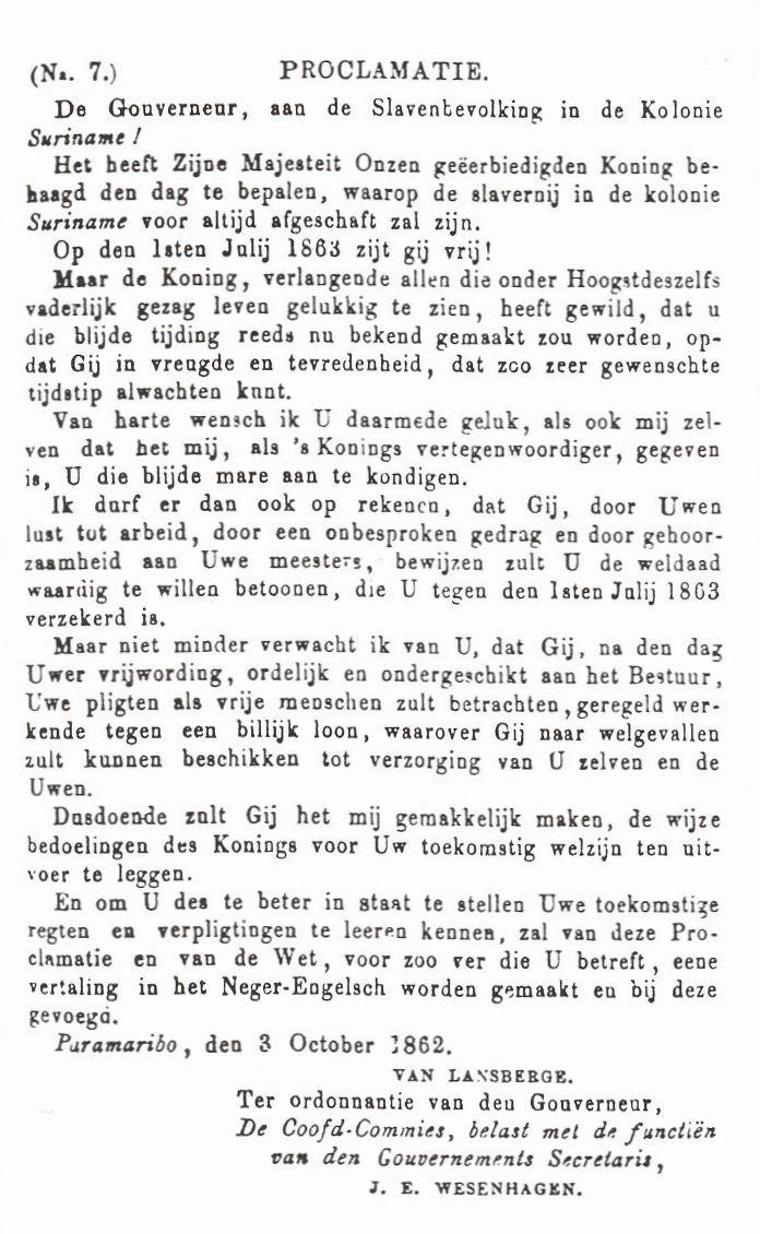 https://www.surinamistiek.nl/main/slavernijverleden/proclamatie.jpg